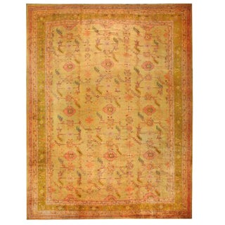 Antique Oversize 19th Century Turkish Oushak Carpet For Sale