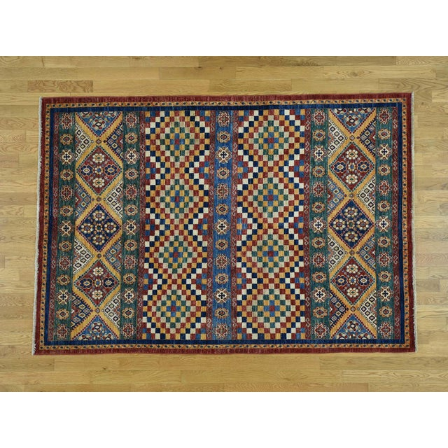 Kazak Khorjin Hand-Knotted Pure Wool Rug For Sale - Image 13 of 13