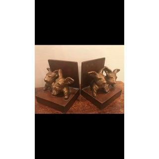 Art Deco Cast Metal Scottie Dog Bookends - A Pair Preview