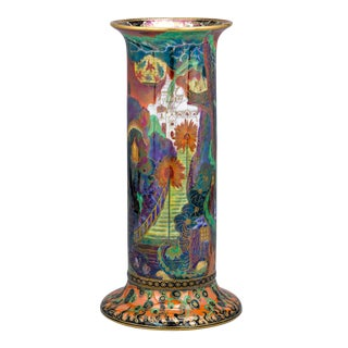 Fairyland Lustre Torches Pillar Vase by Wedgwood For Sale