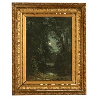 Framed French Landscape Painting For Sale