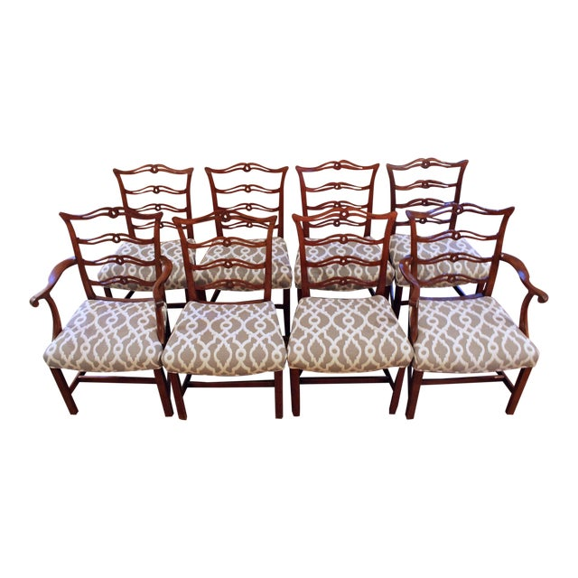 Chippendale Dining Chairs - Set of 8 For Sale