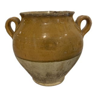 Vintage Mid-Century Mustard Confit Pot For Sale