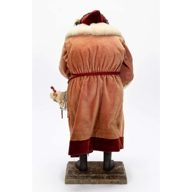 Figurative Large Vintage Father Christmas Figure For Sale - Image 3 of 8