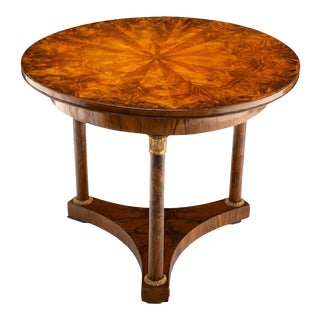 French Empire Style Gilt Bronze Mounted Gueridon Center Table For Sale