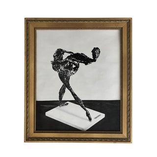 Mid-Century Olivier Descamps Printed a Photo Framed 14x16 For Sale