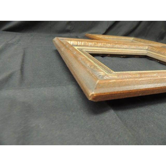 Set of (3) Vintage Green Painted Wood Art Frames For Sale - Image 4 of 6