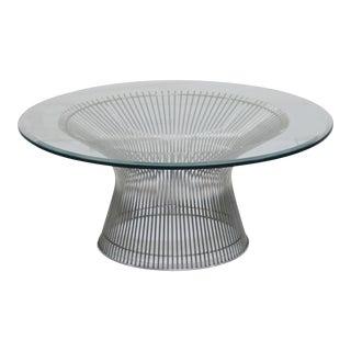 Mid-Century Modern Warren Platner Nickel Coffee Table For Sale
