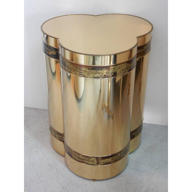 Hollywood Regency Brass Table by Bernhard Rohne for Mastercraft For Sale - Image 3 of 5
