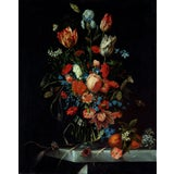 Image of Ottmar Elliger Dutch Still Life With Flowers From 1673 Unframed Giclée on Paper For Sale