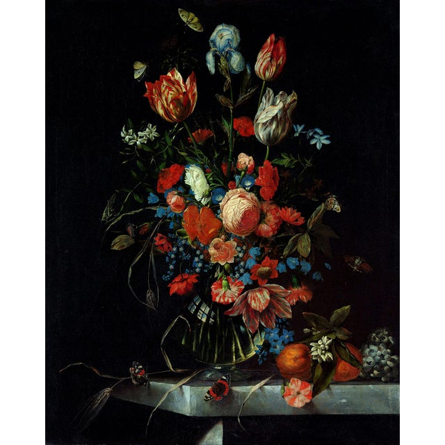 Ottmar Elliger Dutch Still Life With Flowers From 1673 Unframed Giclée on Paper For Sale