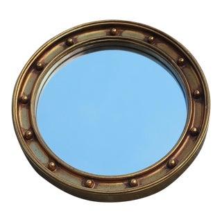 Federal Style Carolina Mirror Co. Giltwood Convex Mirror For Sale