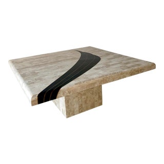 Postmodern Maitland Smith Style Tessellated Stone Coffee Table For Sale