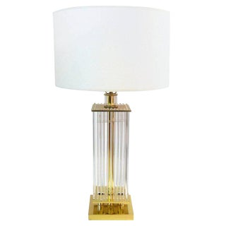 Glass Rod Table Lamp by Sciolari for Lightolier For Sale
