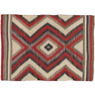 20th Century Navajo Handmade Wool Carpet - 3'11x5'5