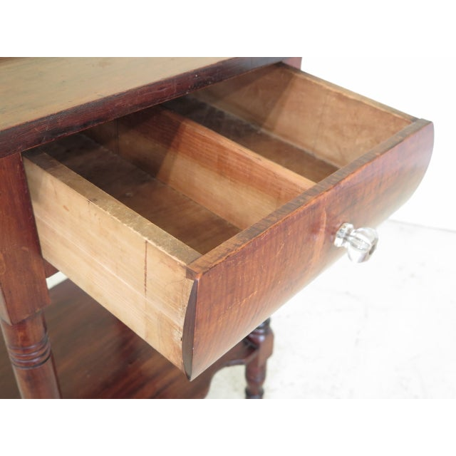 Early 21st Century Antique Century Sheraton Style 1 Drawer Work Table Washstand For Sale - Image 5 of 13