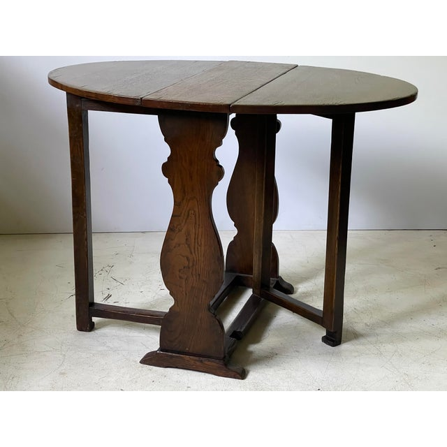 English Dropleaf Trestle Table For Sale In Atlanta - Image 6 of 12