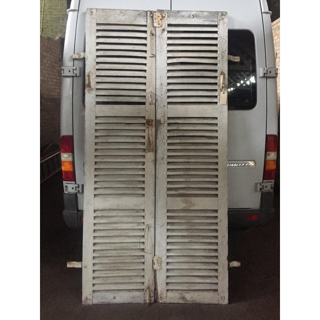 Antique French Shutters - a Pair For Sale - Image 13 of 13