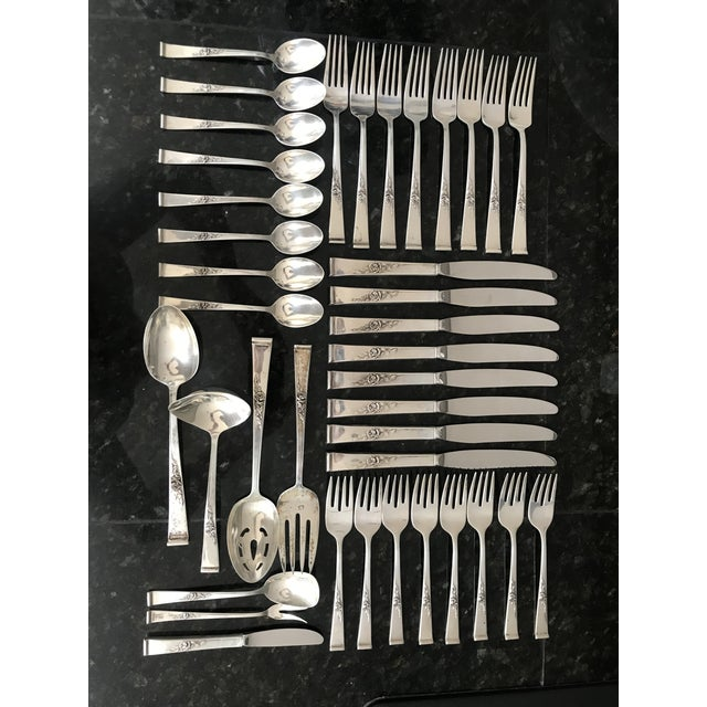 Reed & Barton, Classic Rose Sterling Silver Flatware With Serving Pieces, Place Settings for 8 For Sale - Image 11 of 11