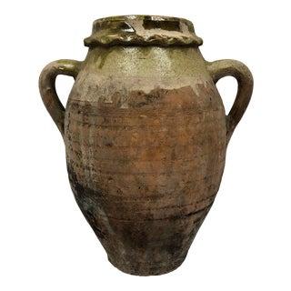 EarlyTurkish Handcrafted Terra Cotta Olive Oil Jar For Sale