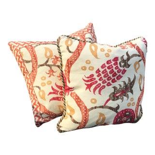 Custom Brunschwig & Fils Throw Pillows - A Pair