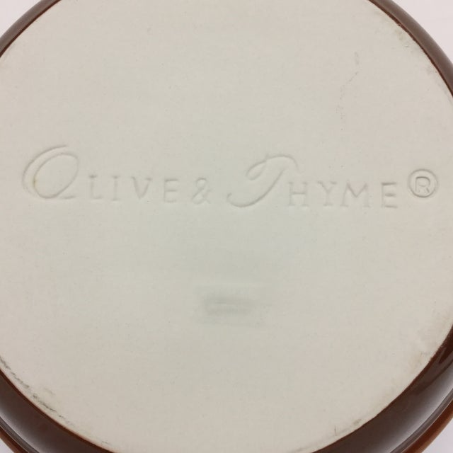 Olive & Thyme Stoneware Casserole Dish For Sale In Boston - Image 6 of 11