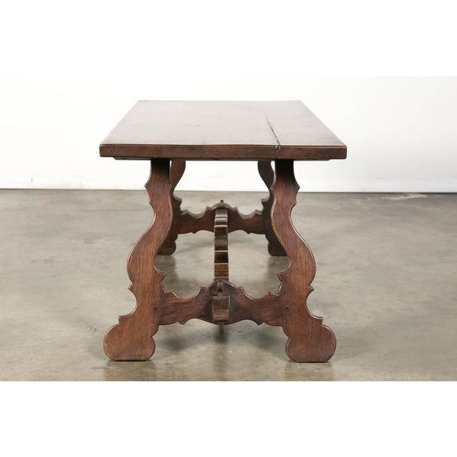 Oak Antique Spanish Colonial Style Oak Coffee Table For Sale - Image 7 of 10