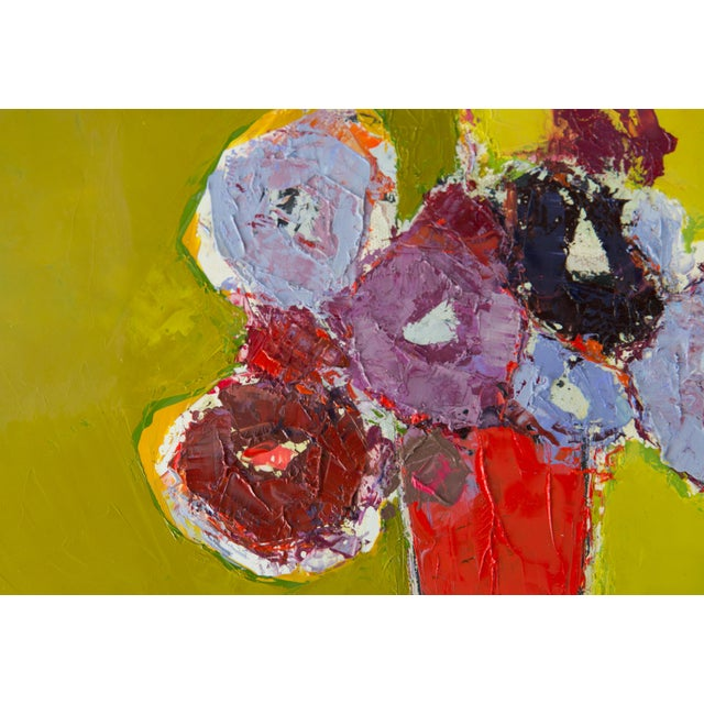 """2020s Bill Tansey """"Brown Table"""" Abstract Floral Oil on Canvas For Sale - Image 5 of 5"""