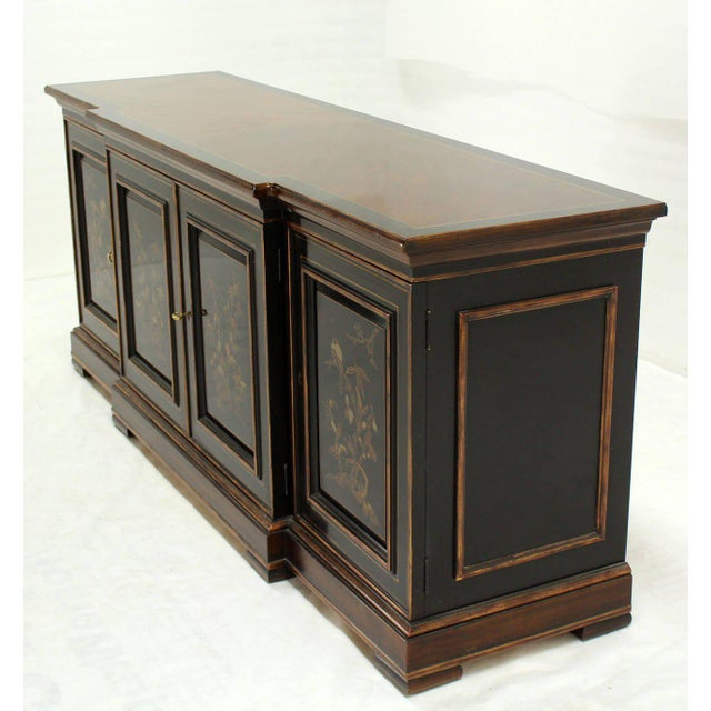 Two Tone Chinoiserie Four Doors Drexel Server Cabinet For Sale - Image 10 of 10