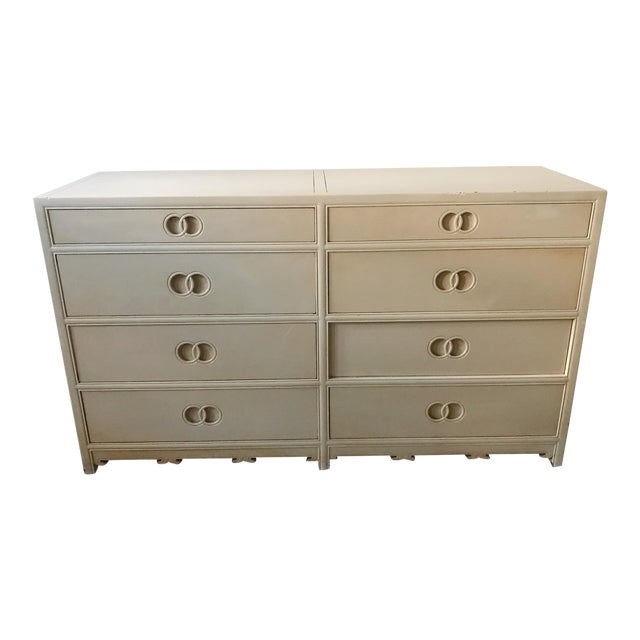 1960s Traditional Michael Taylor for Baker Furniture Wood Chest of Drawers For Sale