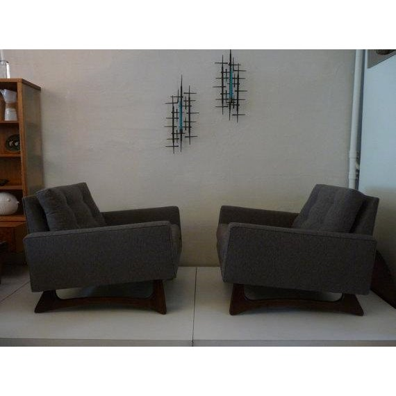 Mid-Century Adrian Pearsall Chairs - A Pair For Sale - Image 5 of 6