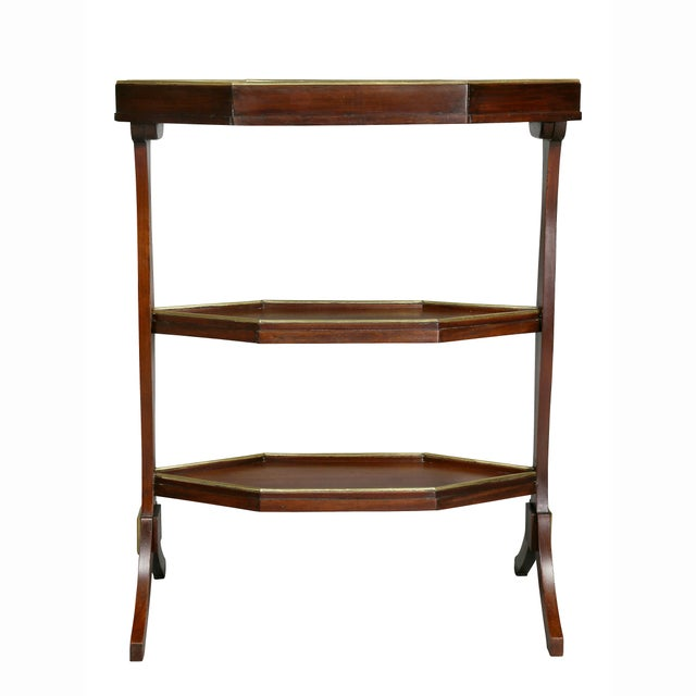 Directoire Mahogany and Brass Mounted Table For Sale - Image 12 of 13