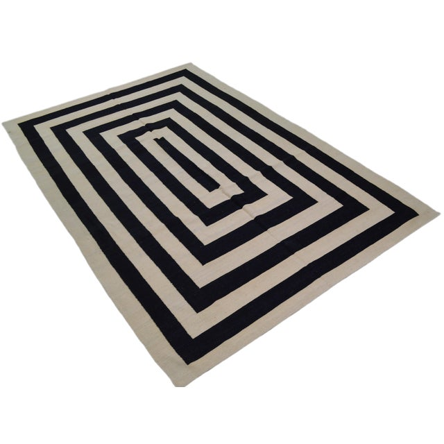 This beautiful Afghan kilim is finely woven with natural colors. The best quality of natural wool is used along with...