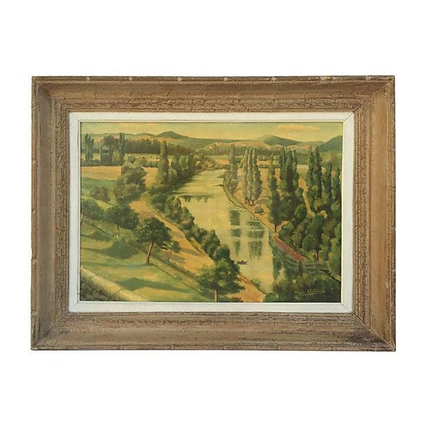 1955 French Landscape Oil Painting - Image 3 of 8