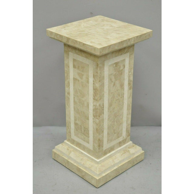 Late 20th Century Tessellated Stone Column Pedestal by Marquis Collection of Beverly Hills For Sale - Image 9 of 9