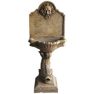 19th Century Italian Marble Wall Fountain For Sale