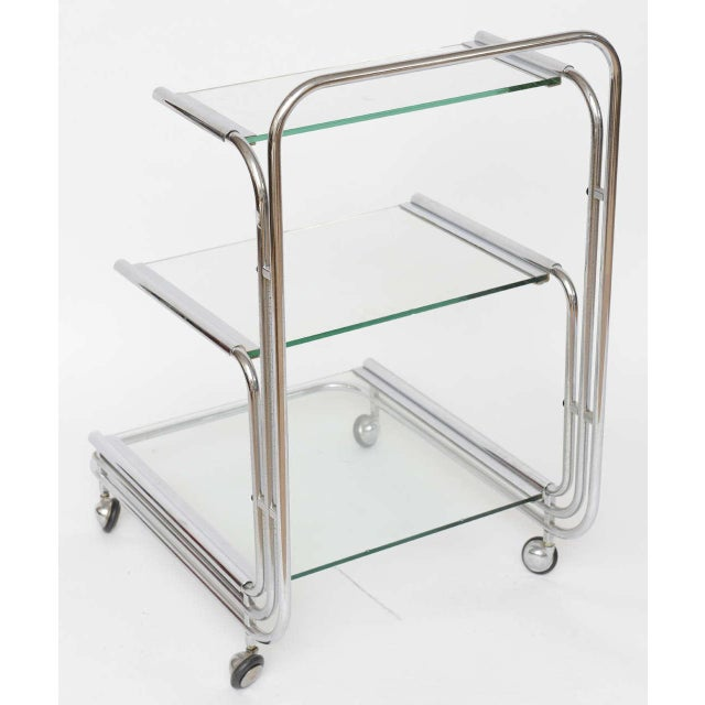 Fontana Arte Chrome Bar Cart - Image 4 of 10