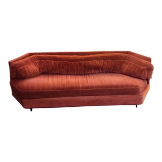 "Vintage Bernhardt ""Flair Divison"" Hexagon Sofa For Sale"