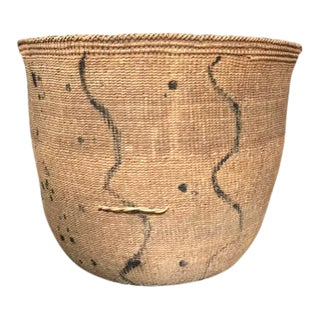 Original Turn of the Century African Woven Basket, 1900