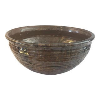 Old World Hand Made Pottery Bowl For Sale