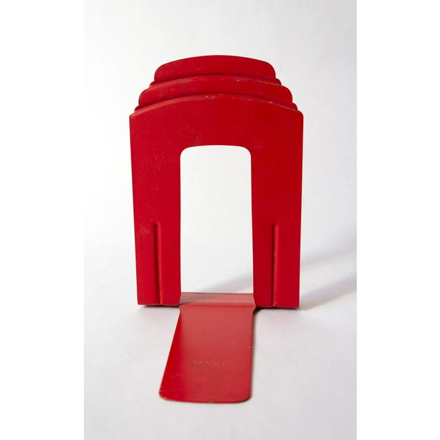 Vintage Red Library Bookends - a Pair For Sale - Image 4 of 9