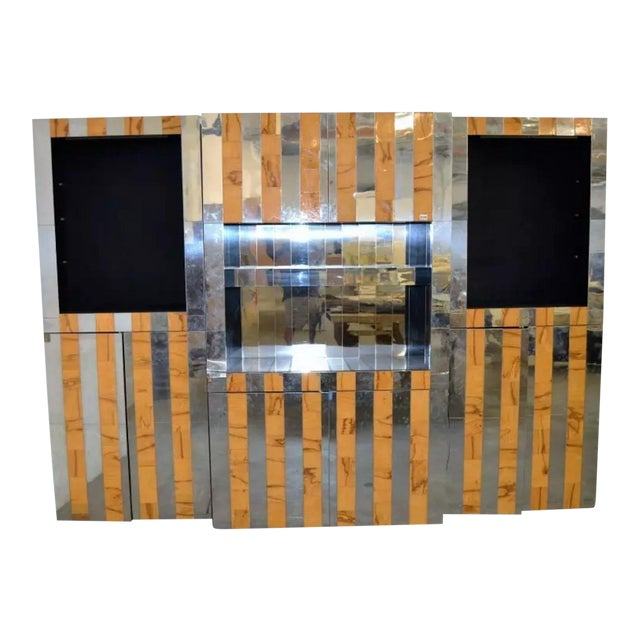 """1970s Paul Evans """"Cityscape"""" Wall System For Sale"""
