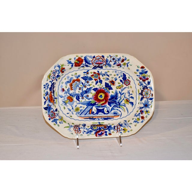 19th C Dresden Opaque China Platter For Sale In Greensboro - Image 6 of 6