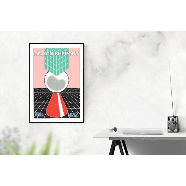 Modern John van Hamersveld-Design Support-1980 Lithograph For Sale - Image 3 of 3