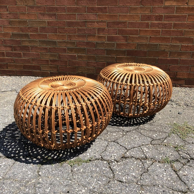 Mid-Century Modern Franco Albini Ottomans, a Pair For Sale - Image 3 of 12