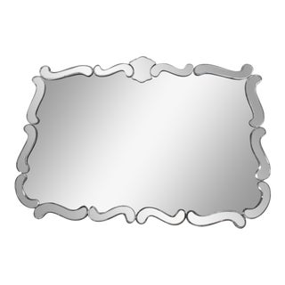1940s Hollywood Regency Smoke and Clear Mirror For Sale