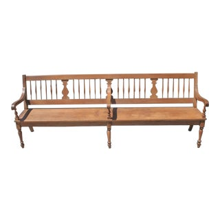 19th Century Monumental Country Settle/Bench
