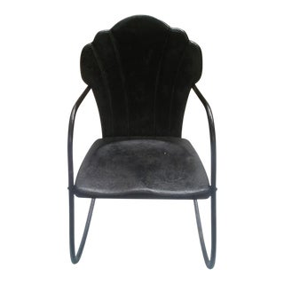 Vintage Child's Metal Clam Chair