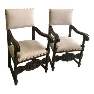 Antique Spanish Colonial Chairs - a Pair For Sale