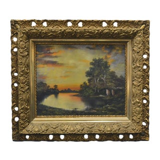 Sunset Over Lake Painting For Sale